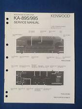 KENWOOD KA-895 KA-995 RECEIVER SERVICE MANUAL ORIGINAL GOOD CONDITION