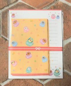 Daruma Cat Letter Sheet Envelope Set Stationery Japanese