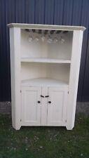 antique look corner cupboard-wine glass holder-selling out make offer