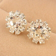 1 Pair Fashion Lady Elegant Crystal Rhinestone Ear Stud Earrings For Woman Gift