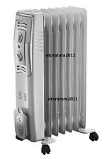 1500W 7 FIN PORTABLE OIL FILLED RADIATOR HEATER ELECTRICAL OFFICE HOME NEW