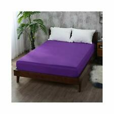 Tremendous 1 Pc Fitted Sheet 1000 Tc Egyptian Cotton Purple Solid Queen Size