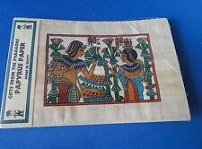 Museum Replica - Egyptian Scene on Papyrus - Egyptians w Plants -