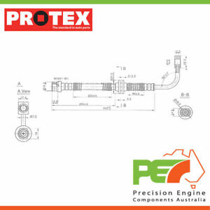 2x New *PROTEX* Hydraulic Hose - Front For,. FORD FALCON BF 2D Ute RWDナ