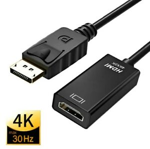 Adaptateur convertisseur DisplayPort vers HDMI, 4K DP Display Port vers HDMI