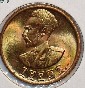 Ethiopia 1943 ~44 10 Cents Lion animal 297443 combine