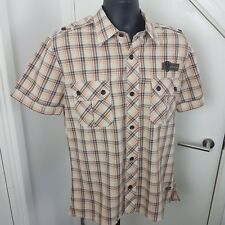 G-STAR RAW Shirt Cotton Short Sleeves GS Stad Faded Checked Size XL