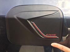 Matte Black Fuel Oil Tank Cap Cover Trim For Honda Civic FC Sedan 2016 2017 V1