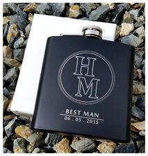 Personalized Flask, Best Man Groomsmen Bridesmaid Gift Wedding Present Thank You