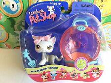Littlest Pet Shop Set Pack #138 Gray Grey Kitten cat Litter Box accessories pack