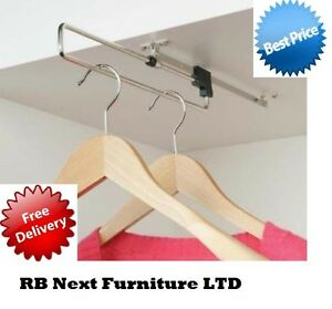 Pull out retractable wardrobe clothes rail towel WWL