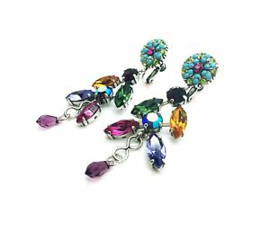 Mariana Earrings Alluring Chandelier Multi Color Crystal Swarovski My Treasur...