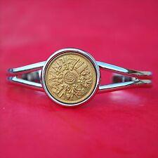 1977 Egypt 10 Milliemes Various Laborers Surround BU Coin SP Cuff Bracelet NEW