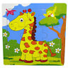 1PC Baby Toys 3D Wooden Puzzle Cartoon Learning Educational Kids Toy giraffe