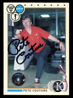 Pete Couture #74 signed autograph auto 1990 Kingpins PBA Bowling Trading Card