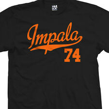 Impala 74 Script Tail Shirt - 1974 Lowrider Classic Car - All Sizes & Colors