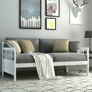 Gymax Twin Size Wooden Slats Daybed Bed Sofa Support Platform Sturdy W/Rails Esp