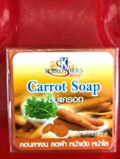 K.Brothers Carrot Face & Body Herb Soap Reducing Acne wrinkled healthy skin 60g.
