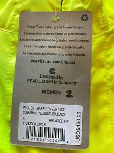 NEW Pearl Izumi Women's Quest BARRIER Convertible Jacket SM-MD-LG-XL