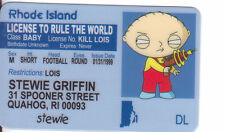 STEWIE Griffin of The Family Guy - plastic ID card Drivers License -