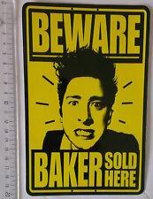 *** Baker - Vintage - Skateboard Sticker -  Beware Baker sold here - Dealer  ***