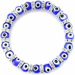 Fashion Blue Evil Eye Bead Protection Good Luck Bracelet Turkish Hand Bangle Hot