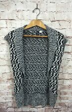 Jason Maxwell Black And White Cardigan Sweater Vest Size Small