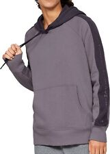 Under Armour Rival Fleece Womens Training Hoody Purple Loose Fit Workout Hoodie
