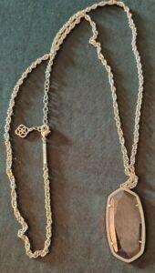 Kendra Scott Rae Long Pyrate Gold Tone Pendant Necklace