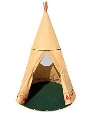 XXL Tipi für Kinder 190cm groß Wigwam Indianer Zelt Pop up Zelt großes Spielzelt