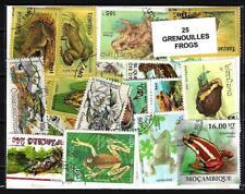 Grenouilles - Frogs 25 timbres différents oblitérés
