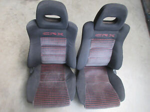 Seats Complete Honda CRX JDM SI HF DX 88-92 Ef8 / EE8 / ED9 ***rare***