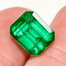 3.25Ct Colombian Emerald Octagon Collection Color Enhanced QMDa483