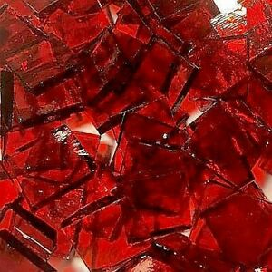 34 Red Stained Glass Mosaic Tiles