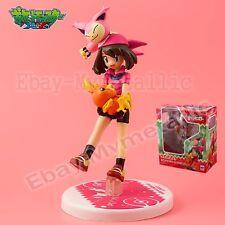 """Pokemon May Haruka & #300 Skitty #255 Torchic 11cm/4.4"""" PVC Figure New In Box"""