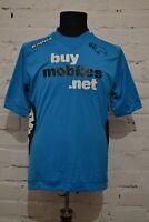 DERBY COUNTY THIRD FOOTBALL SHIRT 2012/2013 SOCCER JERSEY KAPPA BLUE MENS L