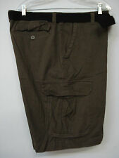 "NWOT Men's Famous Maker Belted Cargo Shorts Size 36""x10.5"" Brown #10M"