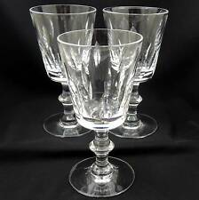 Hawkes Crystal TALLY HO Water Goblet ~ Set of 3 ~ Bottom Signed Stemware Set