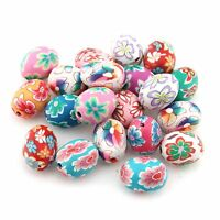 60 Wholesale Mixed Oval FIMO Polymer Clay Beads a4865
