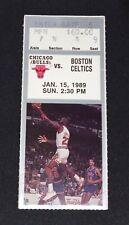 Chicago Bulls 1-15-1989 vs. Boston Celtics Ticket Stub Michael Jordan 42 pts