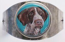 German Wire Haired Pointer Original Art Cuff Bracelet