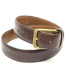 Coach Men's size 32 Whiskey Brown Leather Belt