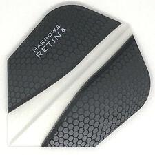 Dart Flights HARROWS RETINA Standard Shape Extra Strong BLACK CLEAR