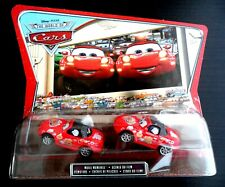 CARS 2 DISNEY PIXAR TIA & MIA WORLD OF CARS blister doppio scala 1:55 mattel