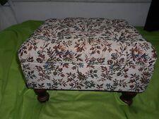 vintage tapestry  sewing stool/storage box