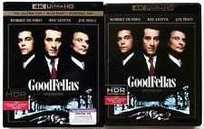 GOODFELLAS 4K ULTRA HD UHD BLU RAY 3 DISC SET + SLIPCOVER SLEEVE FREE SHIPPING