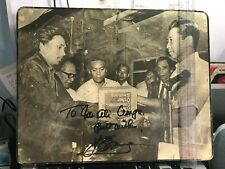 President Ferdinand Marcos Signature Autograph on Photograph Wood Permanent ink