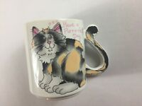 Mount Clemens Cat Mug VTG Coffee Japan Made Tail Handle Have A Purr-r-rfect Day