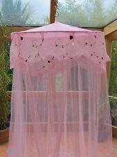 Betthimmel Baldachin rosa Blümchen Moskitonetz Himmel Insektenschutz Mücken Neu