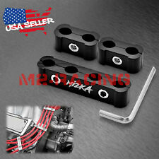 3Pcs Black Aluminum Engine Spark Plug Wire Separator Divider Organizer Clamp Kit